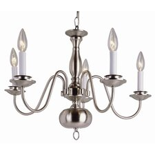 <strong>TransGlobe Lighting</strong> Back To Basics 5 Light Williamsburg Chandelier