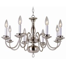 <strong>TransGlobe Lighting</strong> Back To Basics 8 Light Williamsburg Chandelier