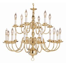 <strong>TransGlobe Lighting</strong> Back To Basics 18 Light Williamsburg Chandelier