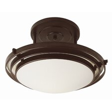 <strong>TransGlobe Lighting</strong> 1 Light Semi Flush Mount