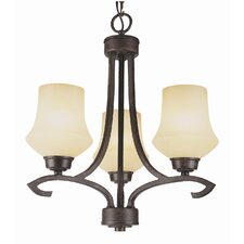 New Century 3 Light Mini Chandelier
