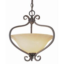 New Century 2 Light Inverted Pendant