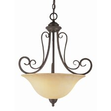 <strong>TransGlobe Lighting</strong> New Century 3 Light Inverted Pendant