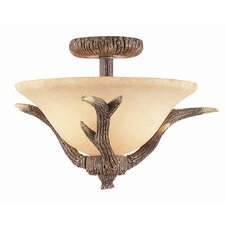 Olde World 2 Light Semi Flush Mount