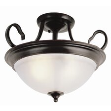 "<strong>TransGlobe Lighting</strong> 15"" Semi Flush Mount"