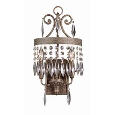 Crystal 2 Light Wall Sconce