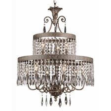 9 Light Chandelier with Crystal