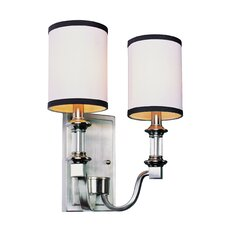 Modern Meets Traditional 2 Light Wall Sconce