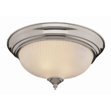 2 Light Metal Flush Mount