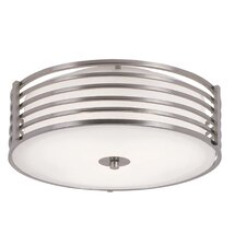<strong>TransGlobe Lighting</strong> 2 Light Small Metal Flush Mount