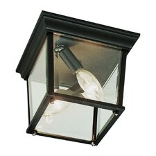 Outdoor 3 Light Square Flush Mount