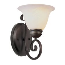 1 Light Wall Sconce with Marbleized Shade