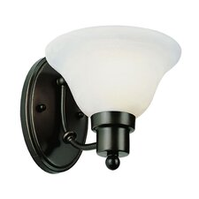 1 Light Wall Sconce with Glass Shade