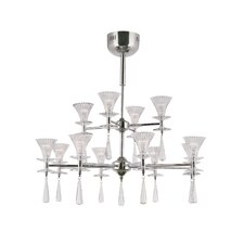 12 Light Chandelier with Fluted Shade