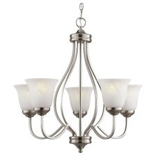 <strong>TransGlobe Lighting</strong> 5 Light Chandelier