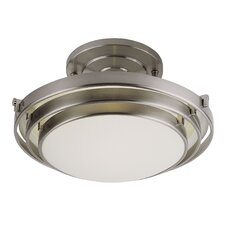 <strong>TransGlobe Lighting</strong> 1 Light 3 Step Semi Flush Mount