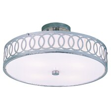 Contemporary 4 Light Semi Flush Mount