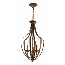 <strong>TransGlobe Lighting</strong> Taste of Elegance 3 Light Foyer Pendant