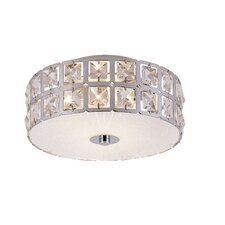 <strong>TransGlobe Lighting</strong> Contemporary Crystal Flush Mount