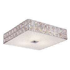 Contemporary Crystal 4 Light Flush Mount
