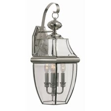 <strong>TransGlobe Lighting</strong> 3 Light Outdoor Wall Lantern