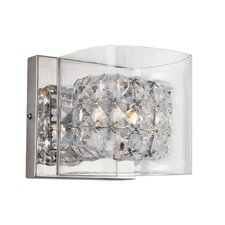 Glassed Cube 1 Light Wall Sconce