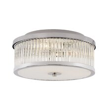Crystal Sun 3 Light Flush Mount