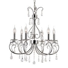 Chic Nouveau 6 Light Chandelier
