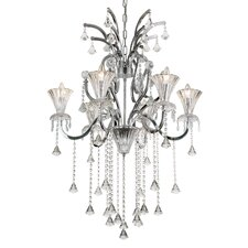 <strong>TransGlobe Lighting</strong> Trumpet Vine 6 Light Chandelier