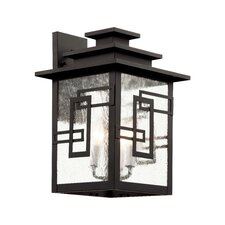 Geo Tempo 3 Light Outdoor Wall Lantern