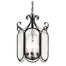 Iced Glass 4 Light Foyer Pendant