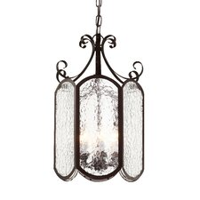 Iced Glass 6 Light Foyer Pendant