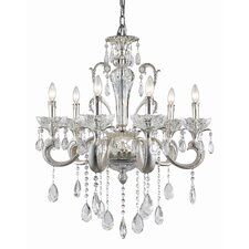 <strong>TransGlobe Lighting</strong> Helios 6 Light Crystal Chandelier