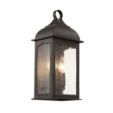 <strong>TransGlobe Lighting</strong> Seeded Masonic 2 Light Outdoor Wall Lantern