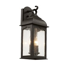 Seeded Masonic 2 Light Outdoor Wall Lantern