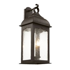 Seeded Masonic 3 Light Outdoor Wall Lantern
