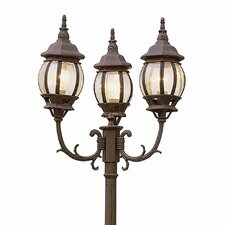 "Outdoor 3 Light 91.5"" Post Lantern Set"