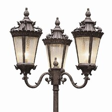 "Outdoor 3 Light 98"" Post Lantern Set"