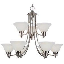 Outdoor 9 Light Chandelier - Energy Star