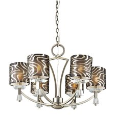 <strong>TransGlobe Lighting</strong> Retro 6 Light Chandelier