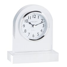 Round Top Glass Mantel Clock in Clear
