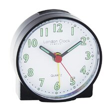 Mini Travel Alarm Clock in Black