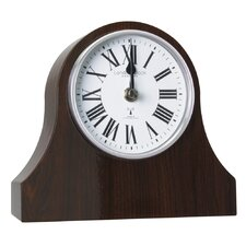 RC Napoleon Mantel Clock in Dark Wood
