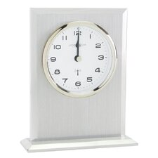 RC Flat Top Mantel Clock in Silver