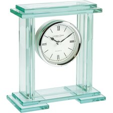Heavy Glass Plinth Mantel Clock