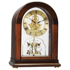 Arch Top Skeleton Mantel Clock