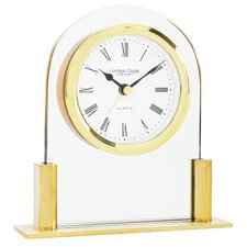 Glass Arch Top Mantel Clock