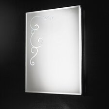 Curly Rectangular Mirror 4 Light Wall Lamp