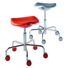 Welcome Stool on Castors with Gas Lift Adjustable Height
