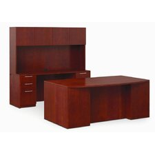 "<strong>Paoli</strong> Revival 29"" x 66"" Full Length Pedestal Executive Desk"